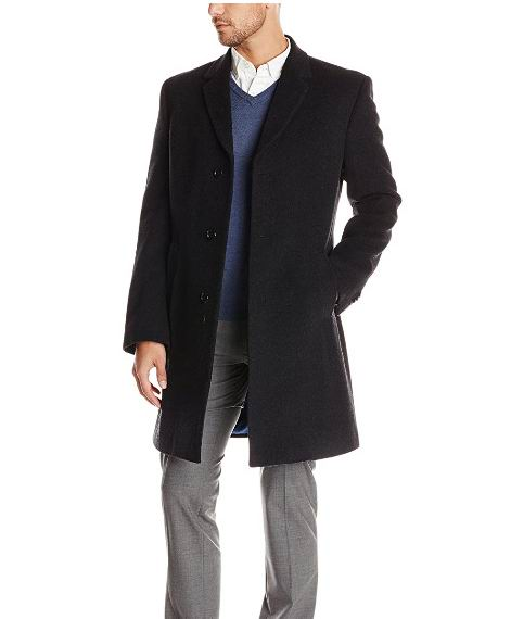 Tommy Hilfiger男士Barnes羊毛羊绒单排扣大衣 70.26加元(38 short),原价 194.72加元,包邮