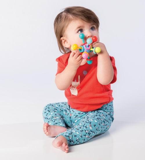 Manhattan Toy 曼哈顿玩具 原子形状摇铃牙胶 9.95加元,原价 12.14加元