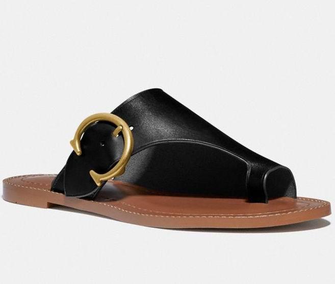 手慢无!Coach 女士时尚Luca 凉鞋 82.5加元,原价 165加元,包邮