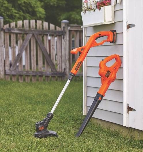 BLACK+DECKER 20V MAX无绳吹扫机+草坪修边机 99加元,原价 149加元,包邮