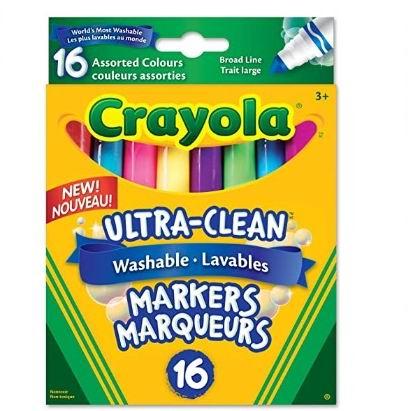 Crayola 绘儿乐 可水洗 粗线标记16支 4.97加元