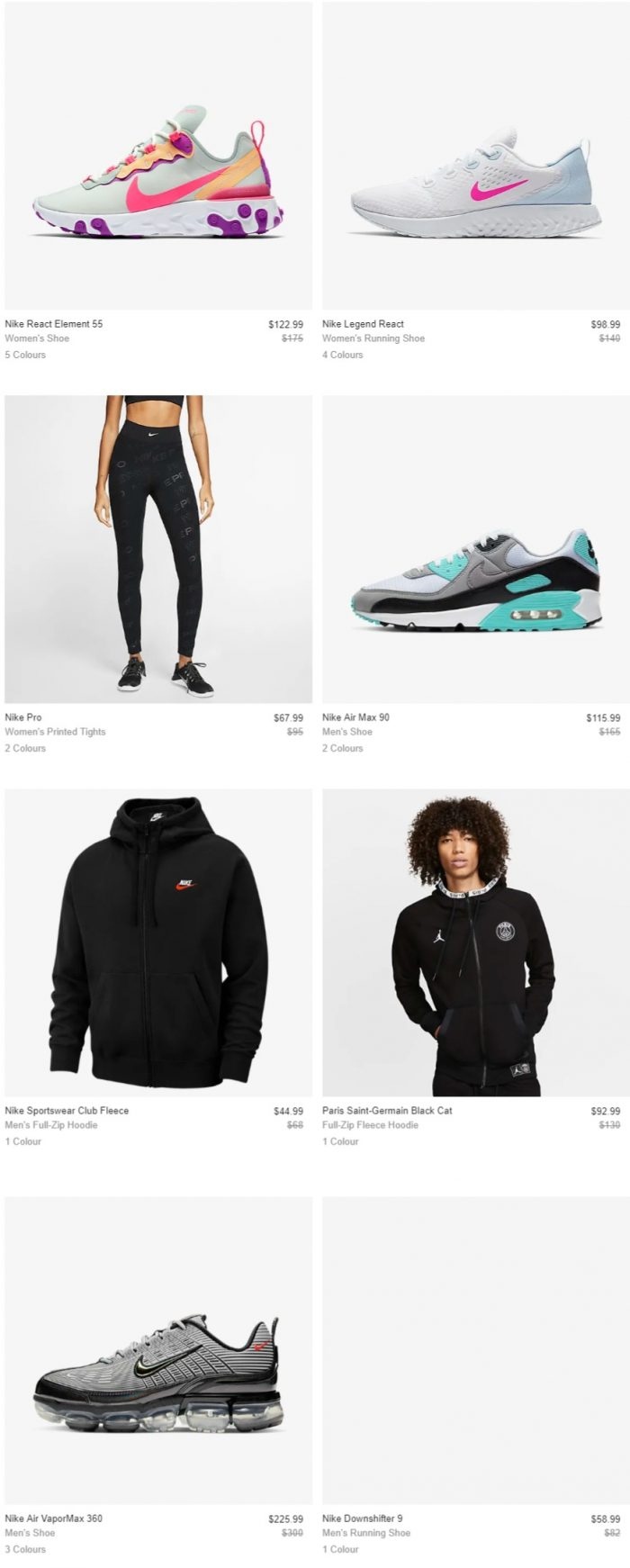 Nike 耐克 折扣区时尚运动服饰、运动鞋、手提包 5.8折起