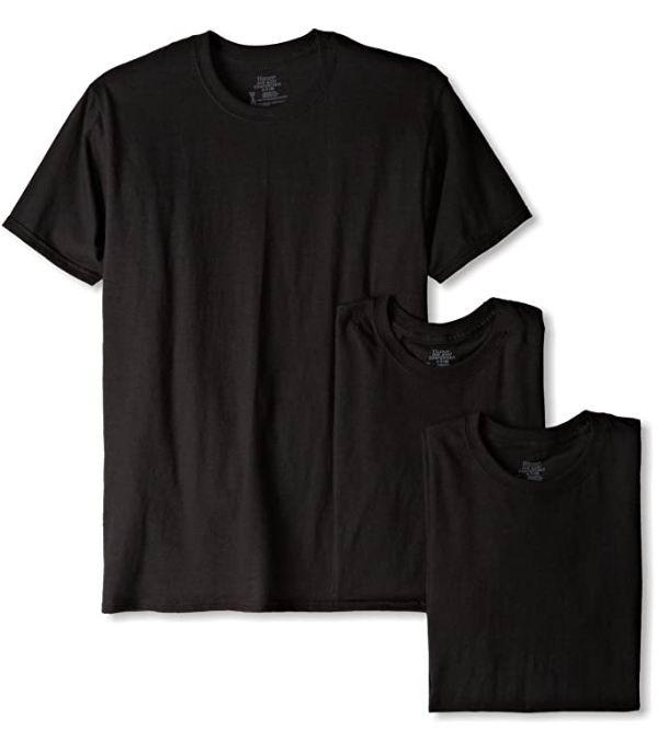 Hanes 男士纯棉T恤 3件套 17.15加元(M码),原价 27.88加元