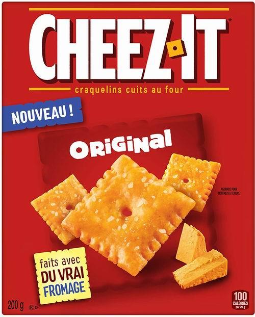Cheez-It 奶酪香脆小方饼 1.97加元,原价 2.99加元