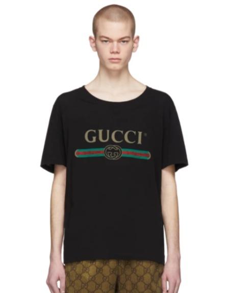 Gucci 男士 Logo 短袖T恤 450加元,官网价 595加元,包邮