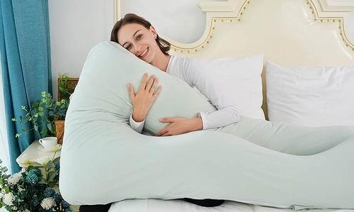历史最低价!Meiz 55英寸U型身体支撑枕/孕妈身体枕 7.1折 53.09加元,原价 74.29加元,包邮