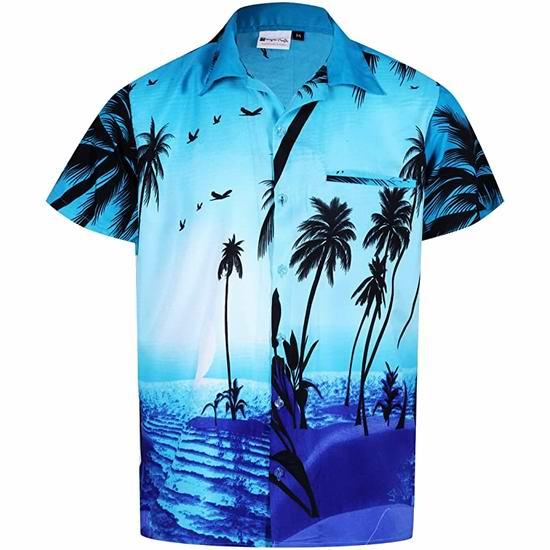 金盒头条:精选多款 Hawaiian 夏威夷风格衬衣6.4折起!低至22.83加元!