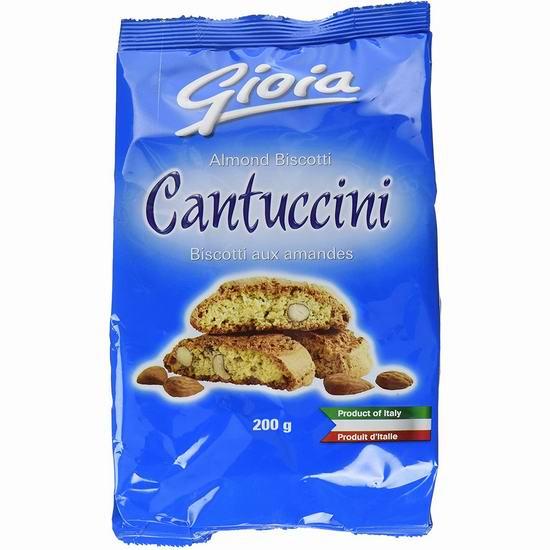 补货!白菜价!Gioia Cantucci 杏仁饼干(200克)1.9折 0.95加元包邮!