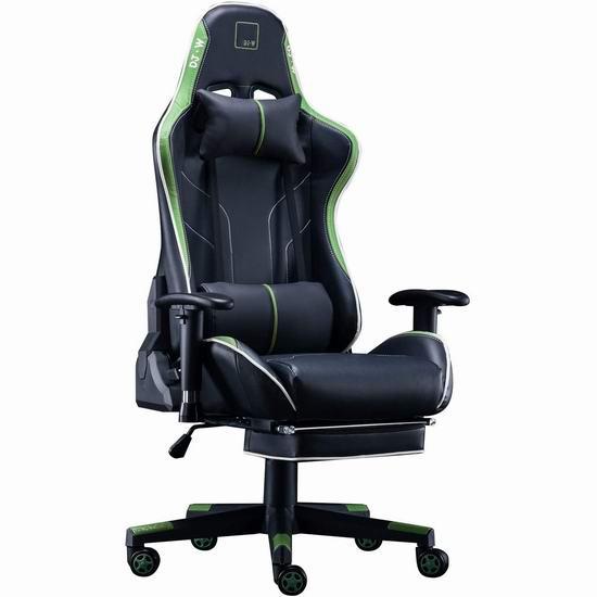DJ·Wang 人体工学 高靠背赛车办公椅/游戏椅 219-229加元包邮!3色可选!