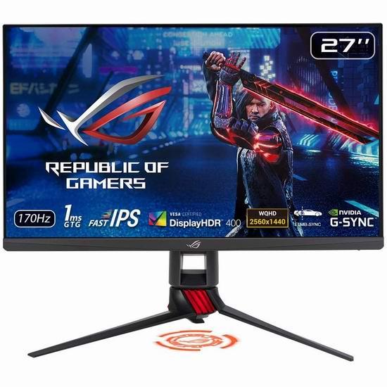历史新低!ASUS 华硕 ROG Strix XG279Q 27英寸 1440P HDR 170Hz 游戏显示器 599加元包邮!