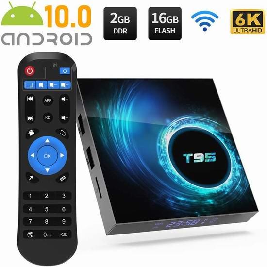 YAGALA T95 4K超高清 双频 高性能 网络电视机顶盒(2GB/16GB) 39.09加元限量特卖并包邮!