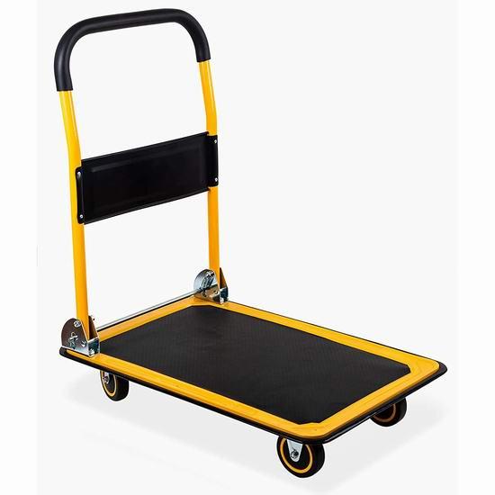 MaxWorks 80876 330磅 可折叠 重型平板拖车 50.09加元包邮!