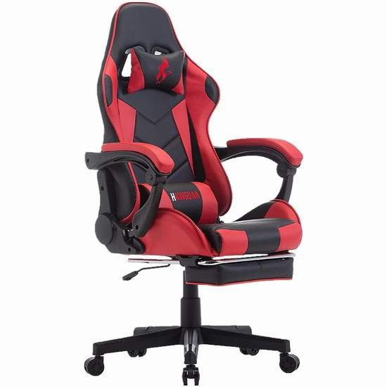 HAWGUAR 人体工学 高靠背赛车办公椅/游戏椅 195.49加元限量特卖并包邮!