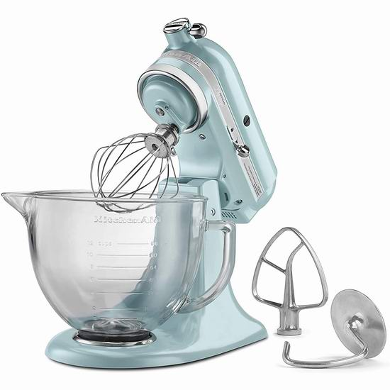KitchenAid 厨宝 Artisan 名厨系列 KSM155GBAZ 5夸脱多功能厨师机5.2折 329.99加元包邮!3色可选!