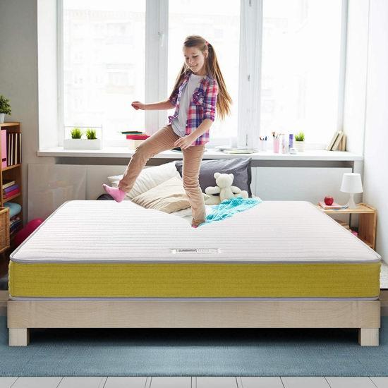 白菜价!历史新低!BedStory 6英寸 中等硬度 弹簧+海绵 Twin/King 床垫 65.99-74.99加元包邮!2色可选!