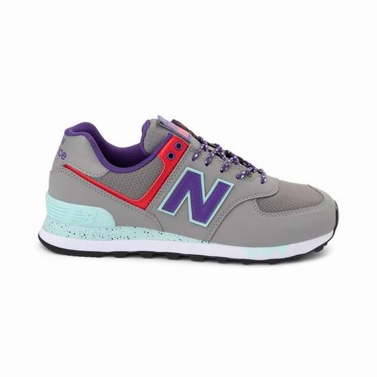 New Balance 574 女式复古运动鞋5.4折 59.99加元包邮!2色可选!