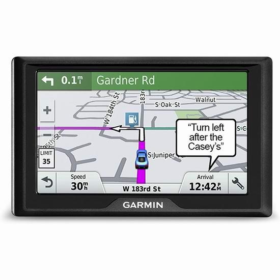 翻新版 Garmin Drive 50 5英寸车载GPS导航仪 99.99加元包邮!加美地图终身免费更新!