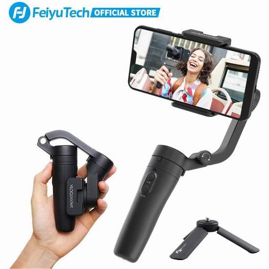 FeiyuTech 飞宇 VLOGpocket 超便携 折叠式手机稳定器 78.45加元限量特卖并包邮!