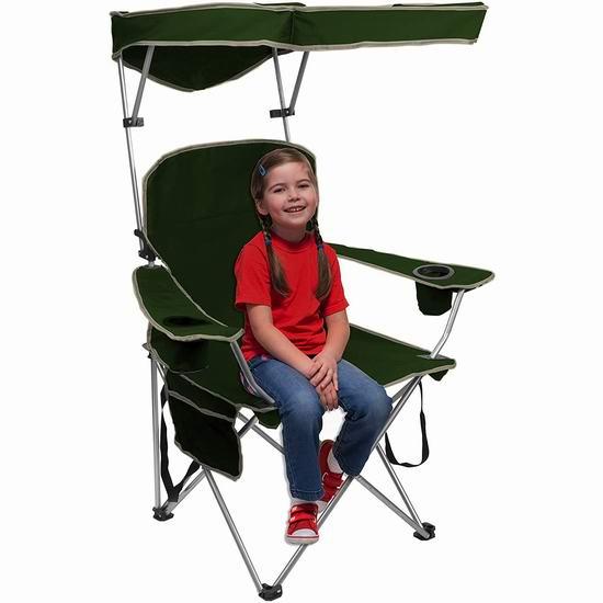 Quik Shade 便携式可折叠 遮阳椅6.2折 41.56加元包邮!再大的太阳也不怕!