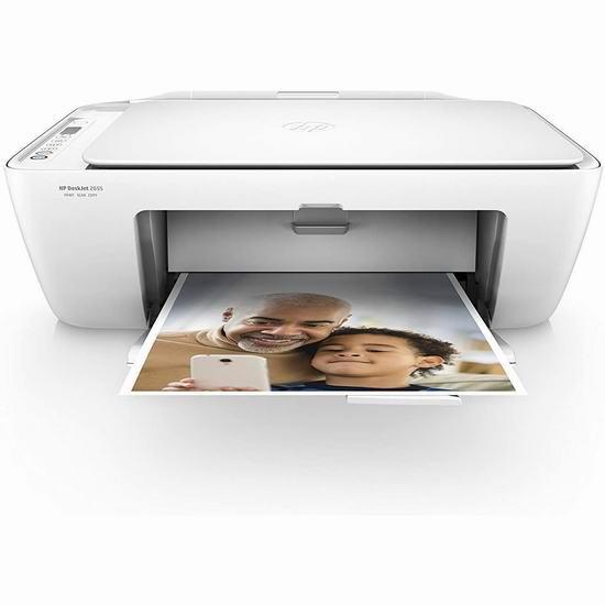 手慢无!HP 惠普 Deskjet 2655 多功能一体无线彩色喷墨打印机3.7折 29.99加元包邮!