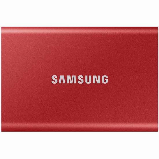 历史新低!Samsung 三星 SSD T7 500GB 便携式移动固态硬盘 129.99加元包邮!2色可选!