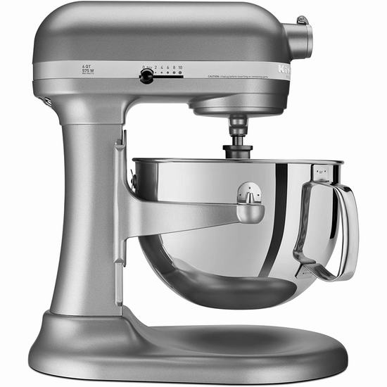 KitchenAid 专业600系列 KP26M1XSL 6夸脱超大功率 立式多功能搅拌厨师机 469.99加元包邮!