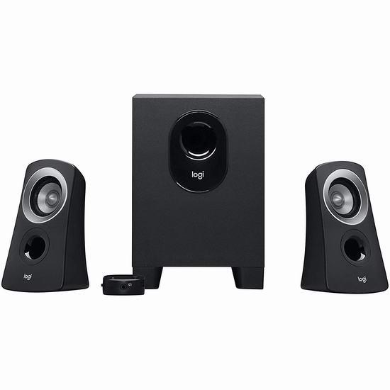 Logitech 罗技 Z313 2.1声道 低音炮 电脑音箱 49.99加元包邮!