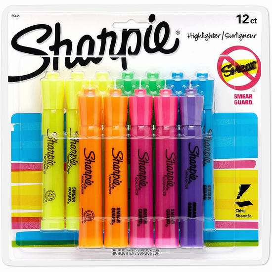 历史新低!Sharpie 25145 Tank 荧光笔12支装3.2折 5.97加元!