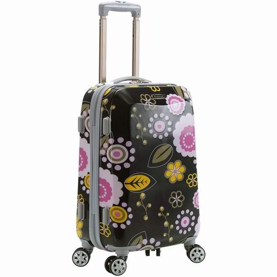 白菜价!历史新低!Rockland F151 时尚PC硬壳 20英寸 拉杆行李箱/登机箱2.9折 46.31加元包邮!