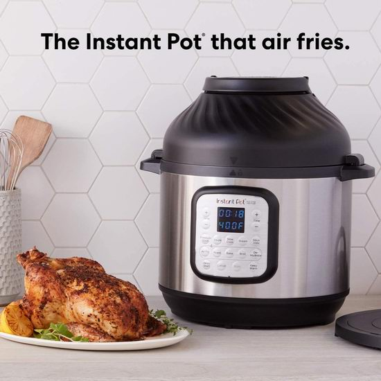 Instant Pot Duo Crisp 8夸脱大容量 11合一 双锅盖 智能空气炸锅+电压力一体锅 190.42加元包邮!