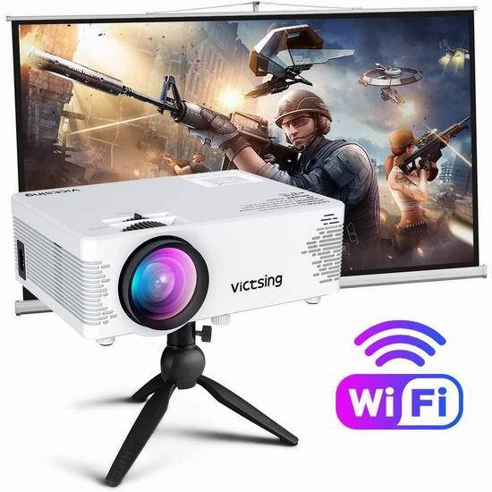 历史新低!VicTsing 4000流明 WiFi/蓝牙无线 家庭影院投影仪4.8折 85.96加元包邮!