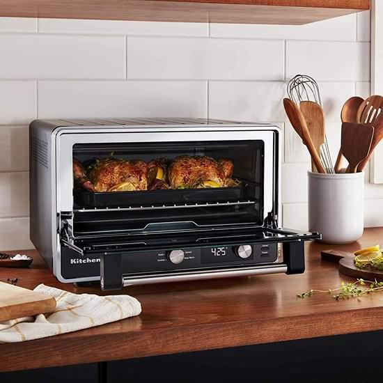 历史最低价!KitchenAid KCO211BM 数字式烤箱5.3折 149.98加元包邮!