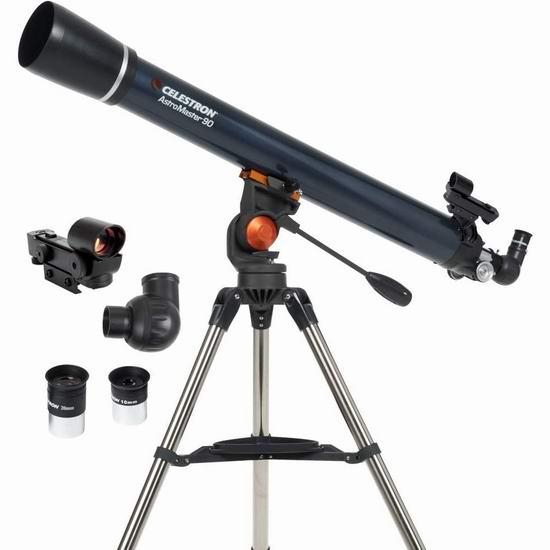 Celestron 星特朗 21063 AstroMaster 90 AZ折射 天文望远镜5折 199.99加元包邮!