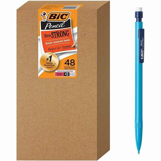 历史新低!BIC Xtra-Strong 自动铅笔48支超值装5.5折 11.72加元!