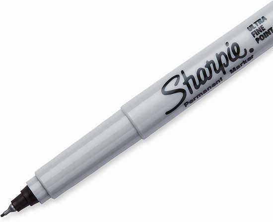 历史新低!Sharpie 超细笔尖 永久记号马克笔2件套 0.97加元!