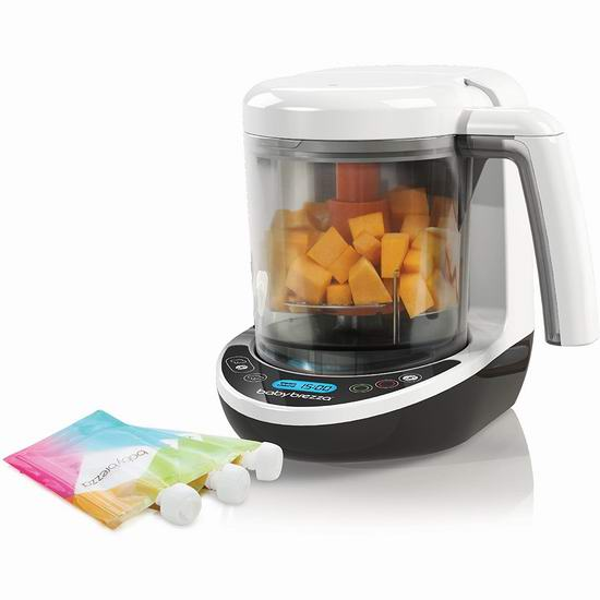 Baby Brezza BRZ00141 婴儿全自动蒸煮打泥一体多功能辅食机6折 89.99加元包邮!
