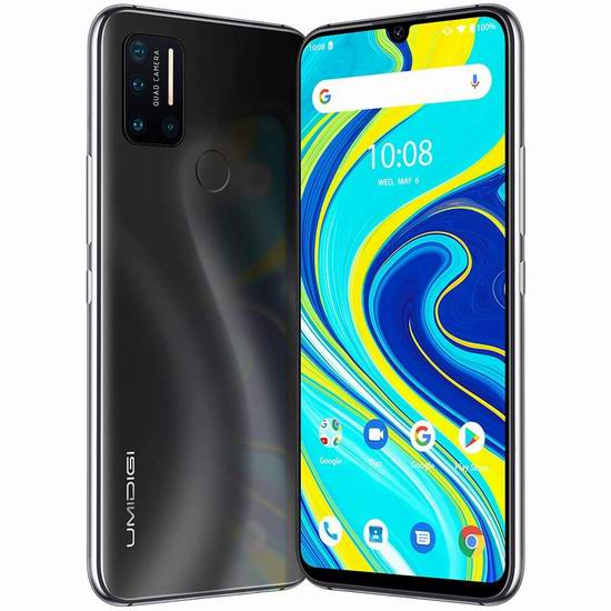 UMIDIGI A7 Pro 6.3英寸 水滴屏 双卡双待 4镜头 解锁版智能手机(4GB+128GB) 195.49加元限量特卖并包邮!