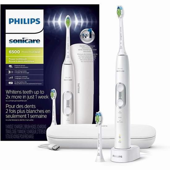 金盒头条:历史最低价!Philips 飞利浦 Hx6462/05 Sonicare 6500 声波震动 智能牙刷6.3折 119.95加元包邮!3色可选!仅限今日!