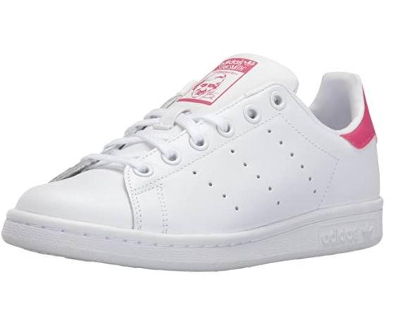 adidas Originals Stan Smith女大童粉尾小白鞋 67.39加元(4.5码),原价 90加元,包邮