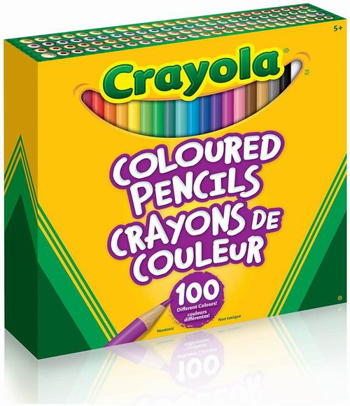 Crayola 彩色蜡笔100支 9.98加元,原价 15.97加元