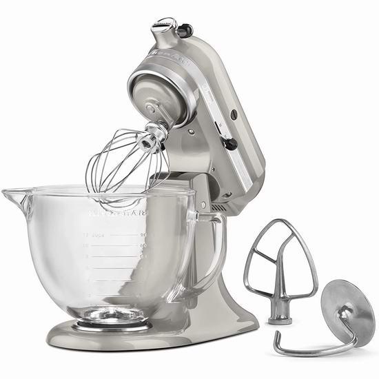 KitchenAid 厨宝 Artisan 名厨系列 KSM155GBAZ 5夸脱多功能厨师机5.2折 329.99加元包邮!
