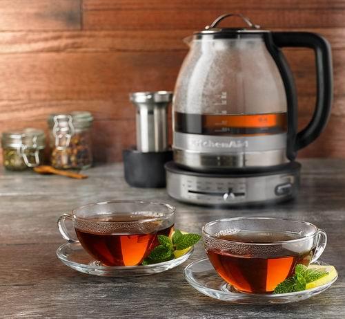 KitchenAid KEK1322SS 1.3升不锈钢玻璃电茶壶 6.7折 119.99加元,原价 179.99加元,包邮