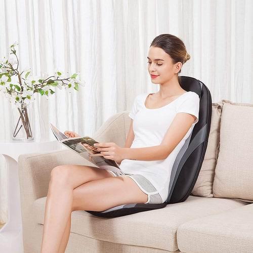 Snailax 红外加热 指压按摩椅垫/揉捏背部按摩器 109.99加元包邮!