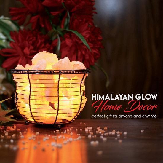 白菜价!WBM Himalayan Glow 1301B 喜马拉雅纯天然负离子水晶盐灯(8-10磅)3.2折 20.99加元清仓!净化空气、舒缓压力!