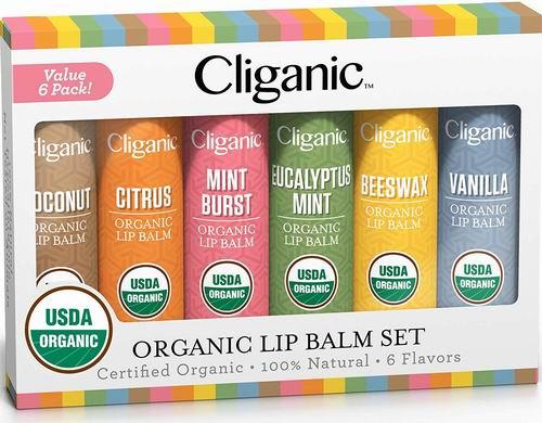 Cliganic USDA天然有机润唇膏 6支 9.99加元