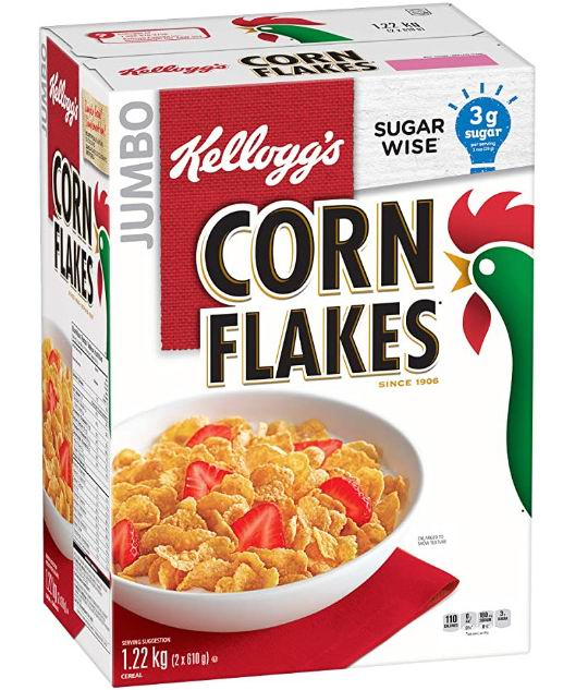 历史新低!Kellogg's玉米片谷物速食早餐1220g 4.44加元,原价 8.99加元