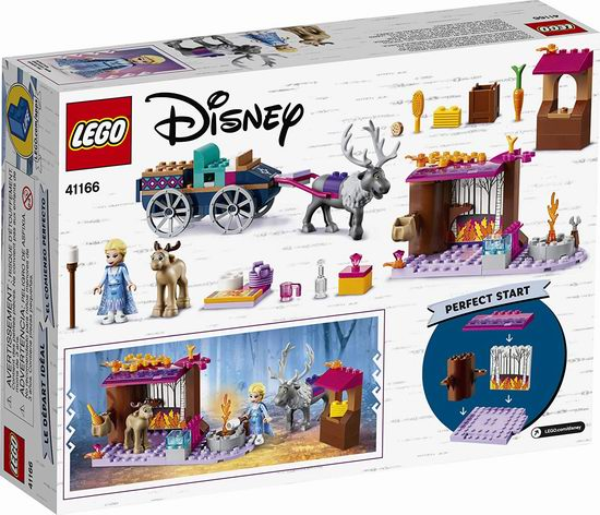 LEGO 乐高 41166 冰雪奇缘 艾莎的马车大冒险(116pcs)7.3折 29加元!