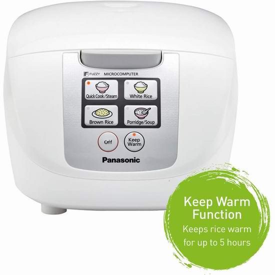 历史最低价!Panasonic 松下 SR-DF101 一键通 微电脑电饭煲5.8折 69.99加元包邮!
