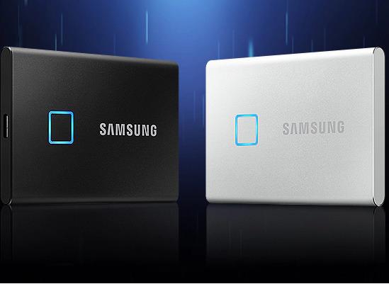 Samsung 三星 Portable SSD T7 Touch 固态硬盘 499.99加元(2色),原价 579.99加元,包邮