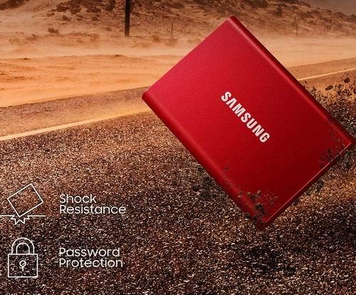 史低价!Samsung Portable SSD T7 500GB USB 3.2固态硬盘 6.9折 89.99加元(3色),原价 129.99加元,包邮